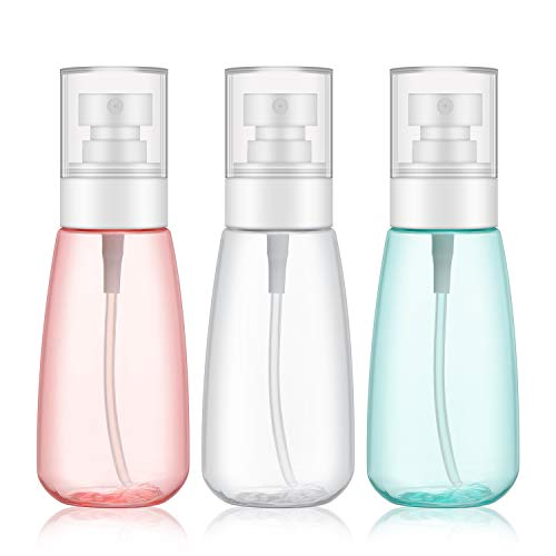 3pcs Fine Mist Spray Bottles, Segbeauty 3.4oz/100ml Airless Cosmetic Spray Bottle Empty Clear Refillable Travel Containers Water Mister for Cosmetic Skincare Makeup Setting Spray