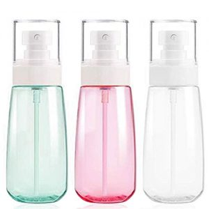 Fine Mist Spray Bottle 3.4oz/ 100ml Empty Cosmetic Refillable Travel Containers Plastic Hair Spray Bottle Sprayer for Perfume Skincare Makeup Lotion (3color)